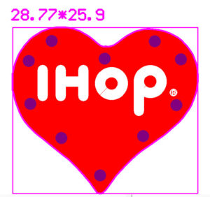 IHOP Custom Blinky Lapel Pin LED and Shape Diagram