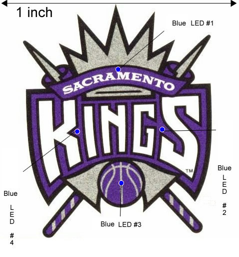 NBA Sacramento Kings custom flashing blinky light pin