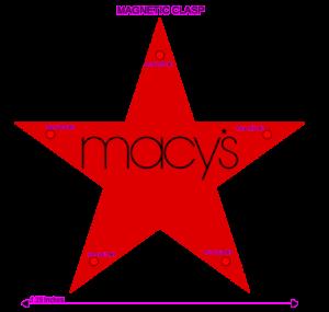 Macy's Custom Flashing Red Star Blinky Light Pin