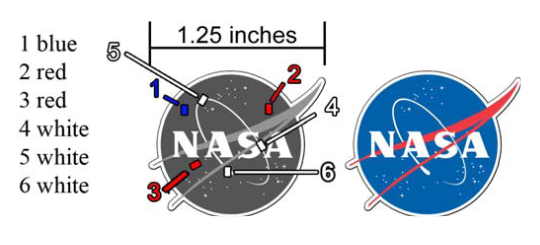 NASA Custom Flashing Blinky Light Pin Raw Diagram