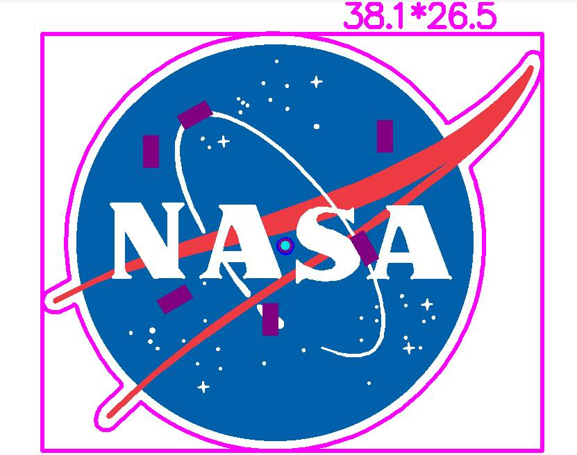 NASA Personalized Light up Lapel Pin Printed Circuit Board Schematic